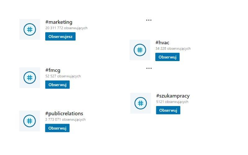 Hashtagi na LinkedIn