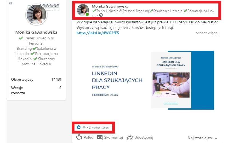 Posty na LinkedIn - na co zwrócić uwagę na początku?
