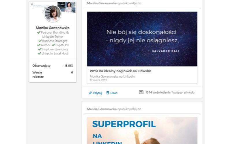 Pisz i dodawaj artykuły na LinkedIn