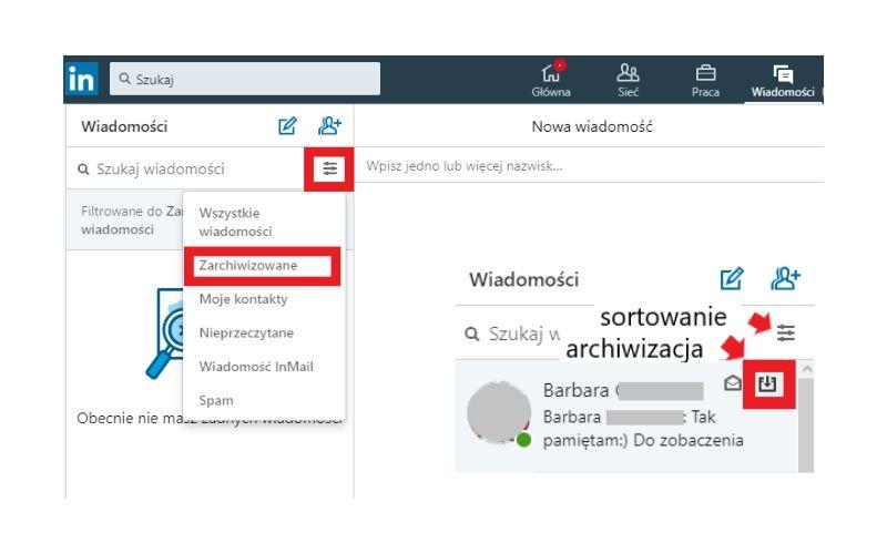 Jak archiwizować wiadomości na LinkedIn?