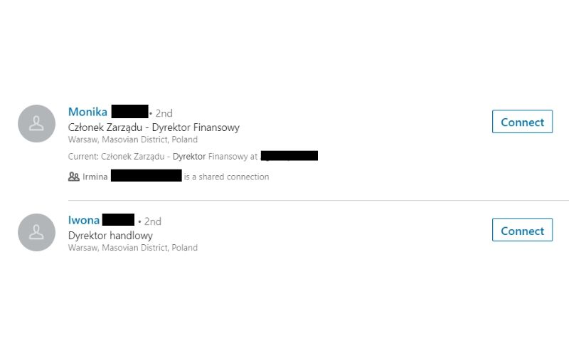 Nagłówek z nazwą stanowiska w profilu na LinkedIn