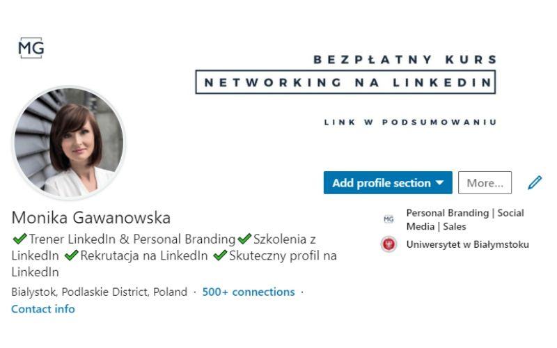 Strategia na LinkedIn - podstawowy element - profil osobowy